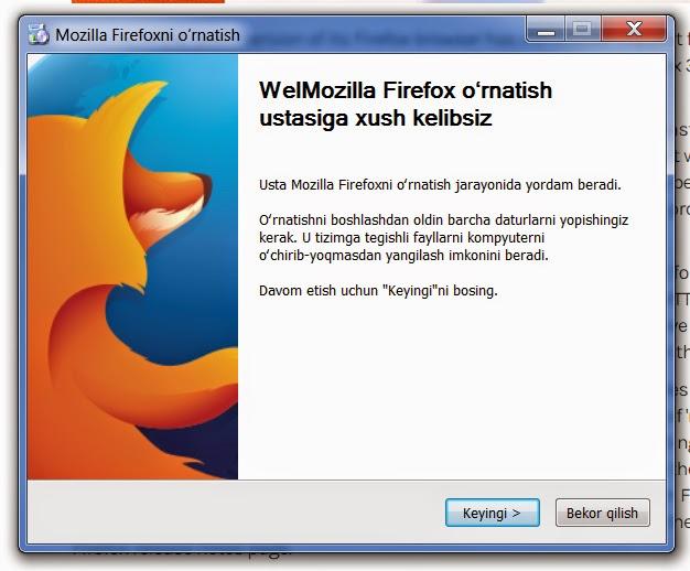 Mozilla Firefox'нинг 36-версияси ўзбек тилида ҳам чиқарилди