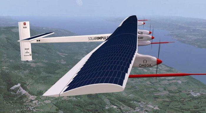 Solar Impulse 2 самолёти қуёш батареяларида парвоз қилиш бўйича рекорд ўрнатди