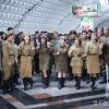 Toshkent metrosida harbiy qo'shiqlar kuylandi (video)