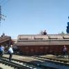 Тошкентда юк поездининг иккита вагони ағдарилиб кетди (фото)