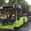 Тошкент шаҳрида йўловчи автобуси ёниб кетди (фото)