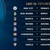 EChL 1/8 finali qur'asi. «Arsenal» - «Bavariya», «PSJ» - «Barselona» va «Real» - «Napoli» to'qnashuvi bo'ladi