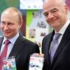 Путин ҳамда Инфантино Сочида ЖЧ-2018 мухлиси паспортига эга бўлди (видео)