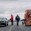 Shelby Mustang GT350 kombaynga qarshi poygaga chiqdi (video)