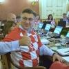 Хорватия ҳукумати аъзолари йиғилишга терма жамоа футболкаларида келишди