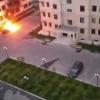 Фарғонада «Жентра» автомобили ёқиб юборилди (видео)