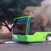 Тошкентда яна бир Mercedes русумли автобус ёниб кетди