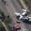 Флорида штатида ерга қўнган самолёт иккита автомобиль билан тўқнашиб кетди