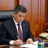 Jeenbekov sobiq prezidentlarni daxlsizlikdan mahrum qilish haqidagi qonunni imzoladi