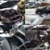 Яшнобод туманида Epica автомобили ёниб кетди