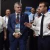 Финалдан сўнг Франция президенти Хорватия терма жамоаси кийиниш хонасига кирди (ФОТО)