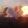 Jangarilar ob'ektiga aviabomba bilan zarba berilishi... (video)