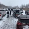 Канадада 50 та машина тўқнашиб кетди, одамлар эса хоккей ўйнашмоқда (видео)