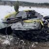Карелияда Mercedes Gelandewagen вертолётдан ташлаб юборилди (видео)