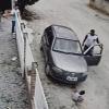 Машина босиб кетган уч ёшли бола тирик қолди (видео)