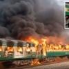 Покистонда поезд портлаши натижасида 70 нафар киши ҳалок бўлди(видео)