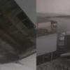 Тошкентда 24 январь куни кузатилган зилзила оқибатида институт хонасидаги шифт кўчиб тушди (видео)