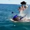 Қора денгизда туристлар сайр қилаётган гидроцикл портлади (видео)