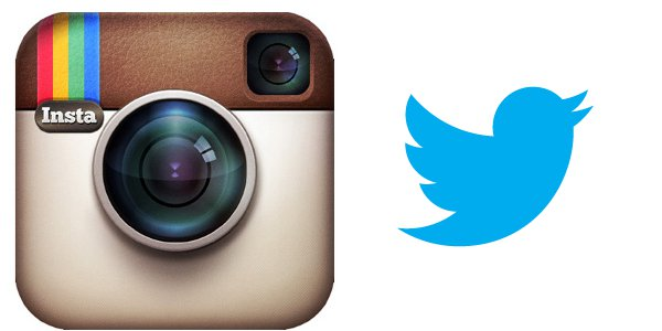 logo twitter dan instagram