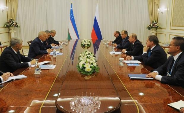 Ислом Каримов Путин билан учрашув ўтказди