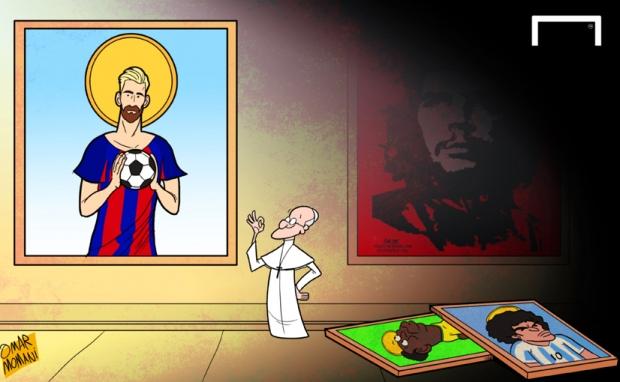 Момани: Рим папаси ва Месси, футболчиларнинг мактабдаги саргузаштлари