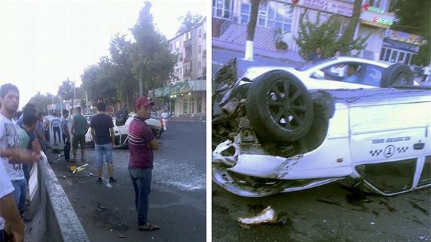 Тошкентда такси автомобили билан мудҳиш ЙТҲ содир бўлди