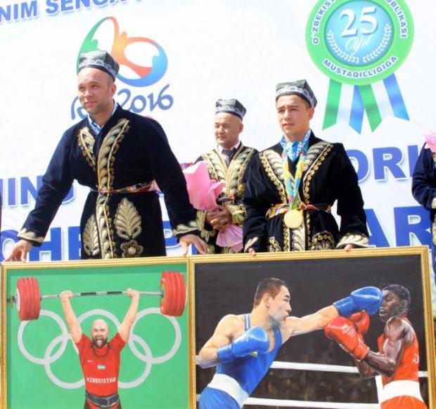 Андижонда байрам тантаналари давомида Рио чемпионлари мукофотланди