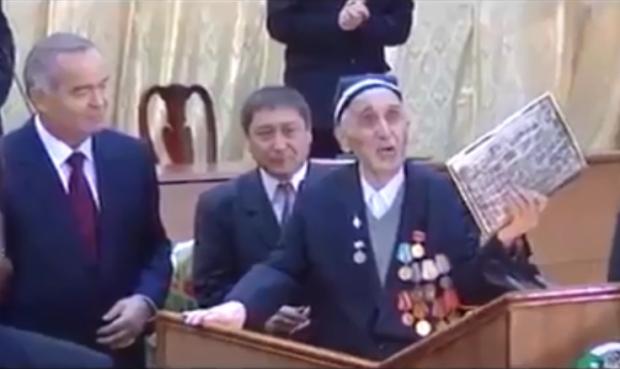 Tarixning zarhal sahifasi: O'zbekistonning Birinchi Prezidenti Islom Karimov o'z ustozi bilan