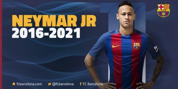 Неймар «Барселона» билан 2021 йилга қадар шартномани узайтиради, трансфер нархи - 250 миллион евро
