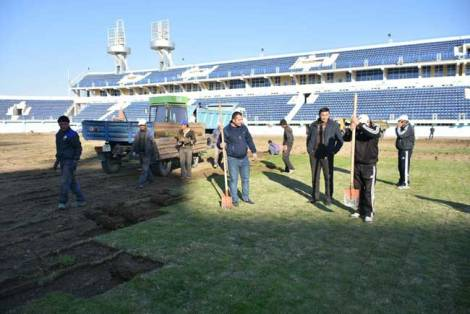 «Насаф»га тегишли «Марказий» стадионда реконструкция ишлари бошланди (Фото)