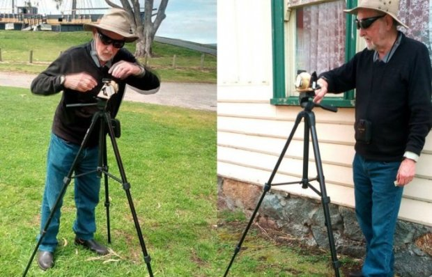 Австралиялик картошкадан фотокамера ясади ва унда суратлар олди