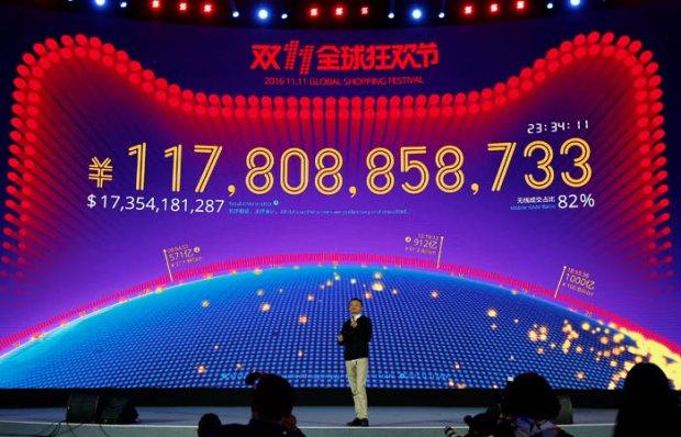Alibaba бўйдоқлар кунида ўтган йилги рекордини янгилади