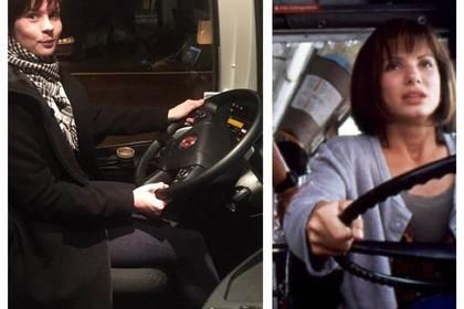 Автобус йўловчиси маст ҳайдовчининг ўрнини эгаллади
