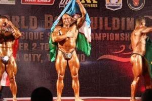 Ўзбекистонлик бодибилдер Таиланддаги жаҳон биринчилигида олтин медални қўлга киритди