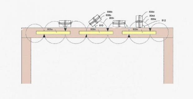 Apple қурилмаларни симсиз қувватлайдиган столни патентлади (фото)