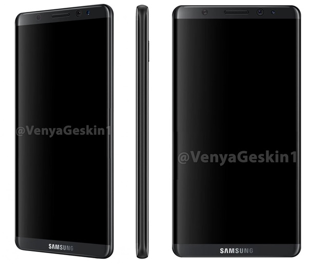Samsung Galaxy S8 нинг биринчи рендерлари пайдо бўлди