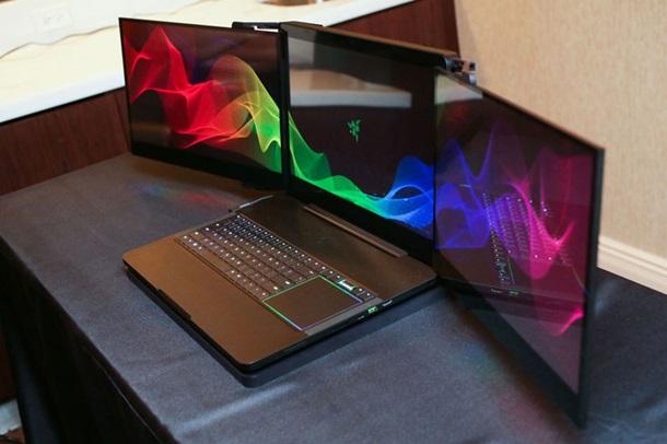 Учта экранга эга биринчи ноутбук тақдим этилди (фото)