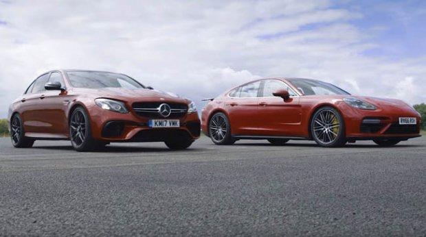 Mercedes-AMG ва Porsche седанлари куч синашди (Видео)