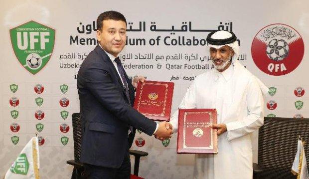 O'FF QFU bilan memorandum imzoladi yoxud Qatar bilan o'rtoqlik o'yini o'tkazishga kelishib olindi