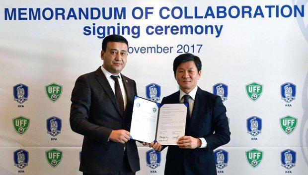O'FF Janubiy Koreya Futbol Assotsiatsiyasi bilan memorandum imzoladi