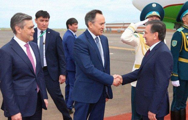 Shavkat Mirziyoyev Ostonada kutib olindi