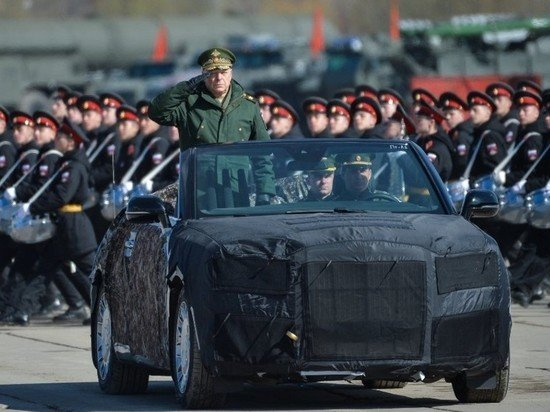 Россияда 9 май парадида иштирок этадиган Aurus лимузини суратлари (фото)