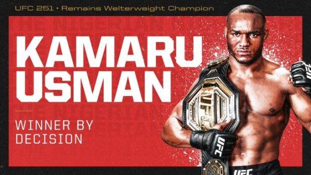UFC 251. Камару Усмон Хорхе Масвидални мағлуб этди ва чемпионлик камарини ҳимоя қилди