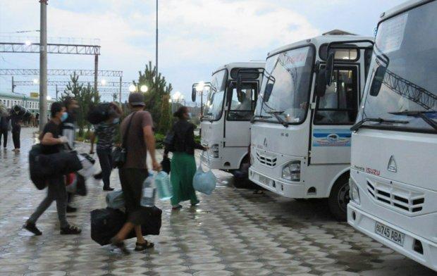 Россиядан поездда олиб келинган фуқаролар Намангандаги карантин зонасига жойлаштирилди