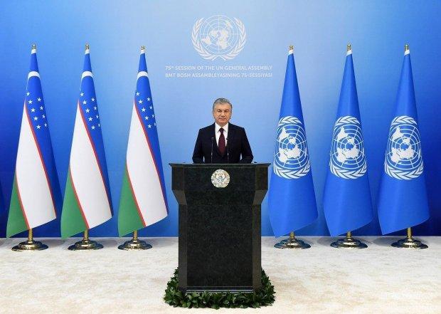 Shavkat Mirziyoyev BMT Bosh Assambleyasining 75-sessiyasida chiqish qildi