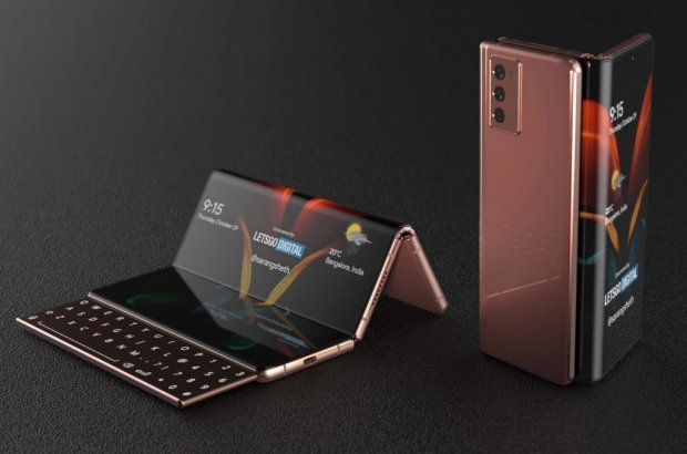 Samsung «гармошка-смартфон»ни намойиш этди