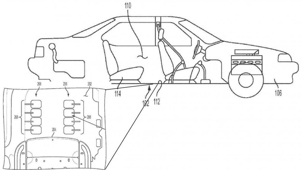 General Motors kompaniyasi oyoqlarni siqilgan havo yordamida massaj qiluvchi tizimni patentladi
